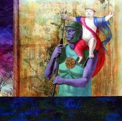 In Hoc Signo Vinces - 21st Century, Figurative Painting, Emperor Constantine