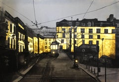 The light from Lisbon - Contemporary, Light Box, Urban, Cityscape, Drawing