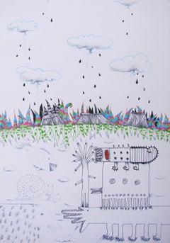 Surrealist Animal Drawings and Watercolors