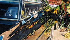 Blooming. San Francisco. 1969 - 21st Century, Car, Oldtimer, Plymouth, Oil Paint