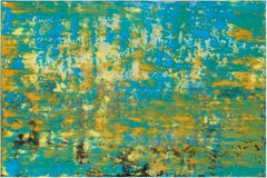 White light - Encaustic Painting, Contemporary, Green, Yellow, Abstract