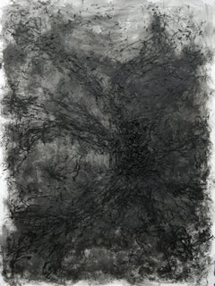 Untitled - 21st Century, Black, Monochrome, Abstract Drawing, Organic, Tactile