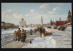 La Moscowa à Moscou, sous la Neige