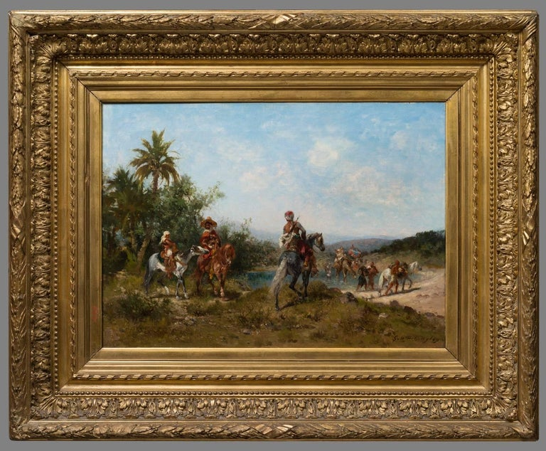 Georges Washington Figurative Painting - Le Voyage - Halte au bord de l'Oued (The Trip- A Break at the Banks of Oued)