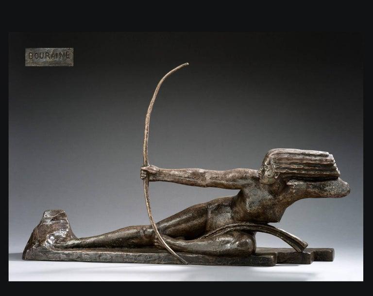 Penthesilia, Reine des Amazones  - Sculpture by Marcel-André Bouraine
