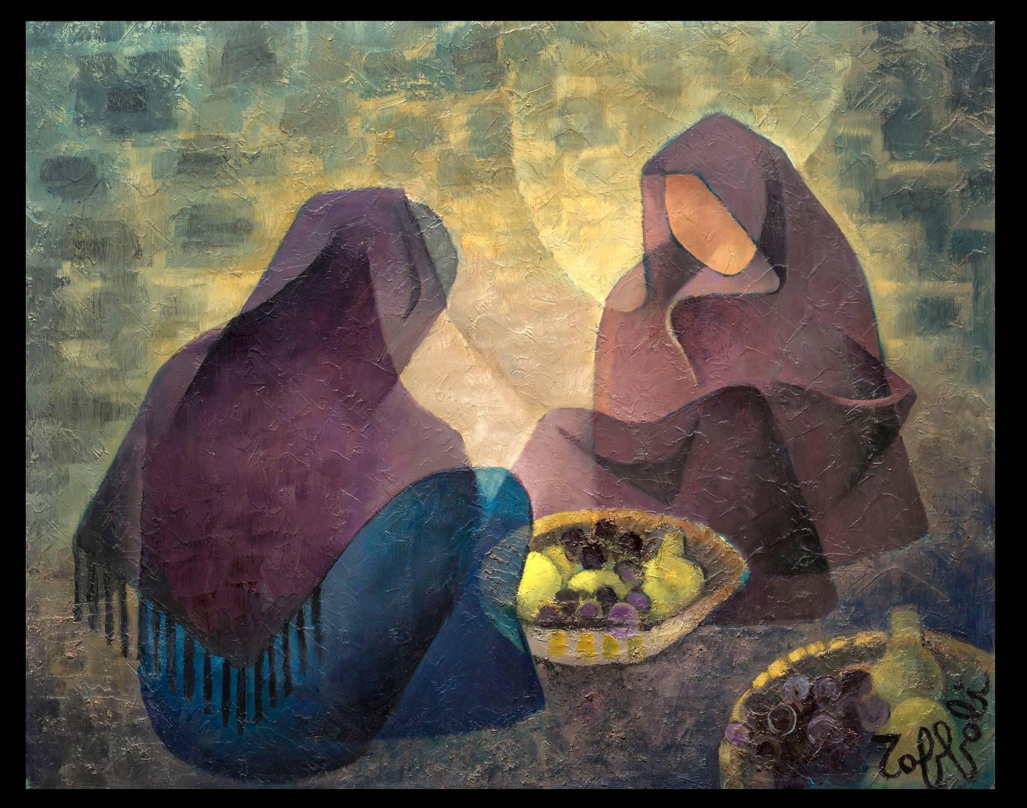 Les Femmes Orientales aux Corbeilles de Fruits