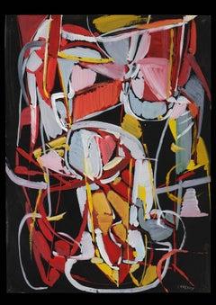 Composition Rouge sur fond Noir (Red composition on Black Background)