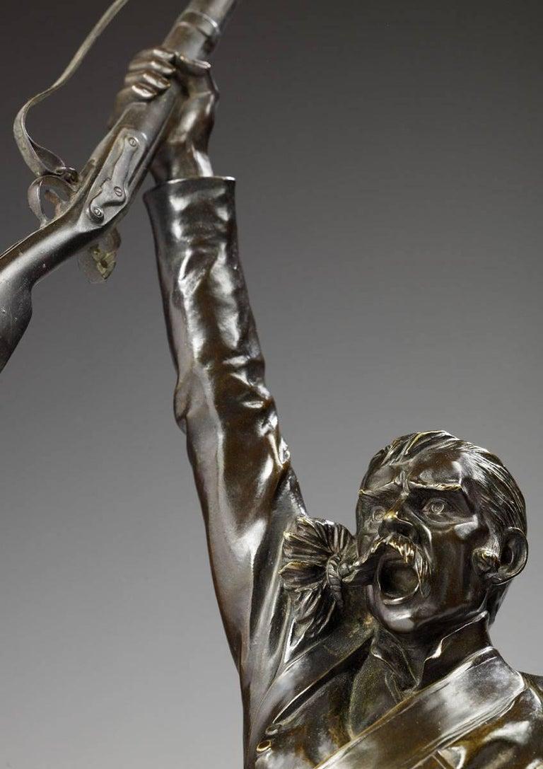 Vive l'Empereur  - Sculpture by Charles Edouard Richefeu