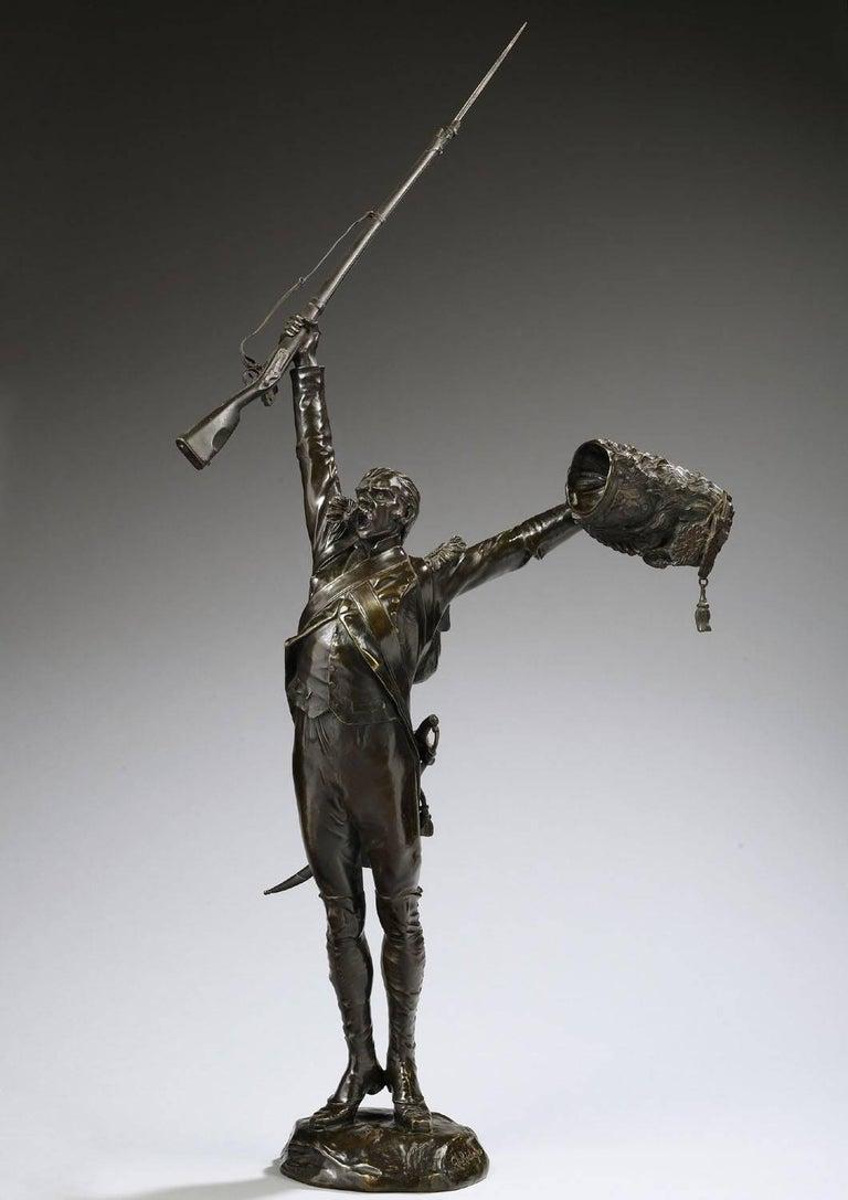Charles Edouard Richefeu Figurative Sculpture - Vive l'Empereur