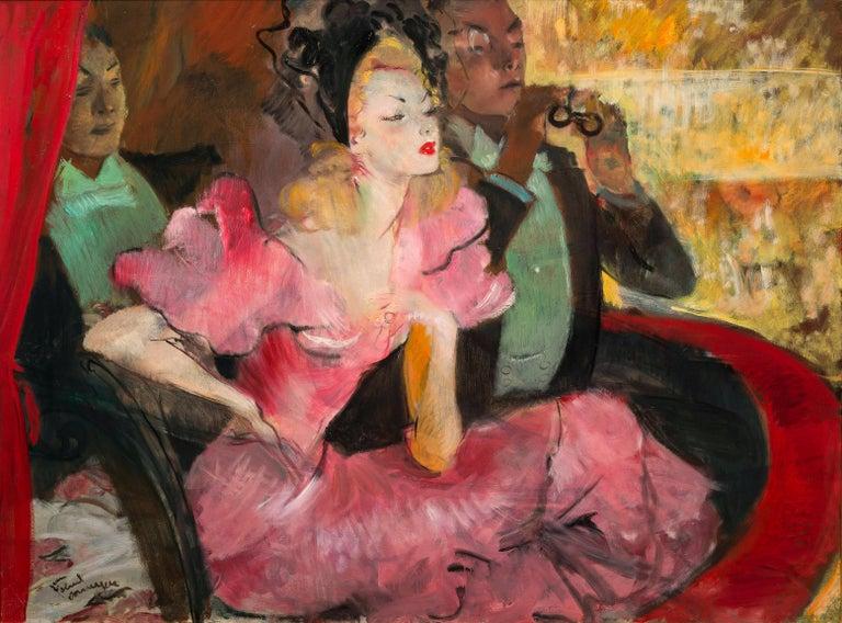 <i>La Loge,</i> ca. 1930, by Jean-Gabriel Domergue, offered by Galerie de Souzy