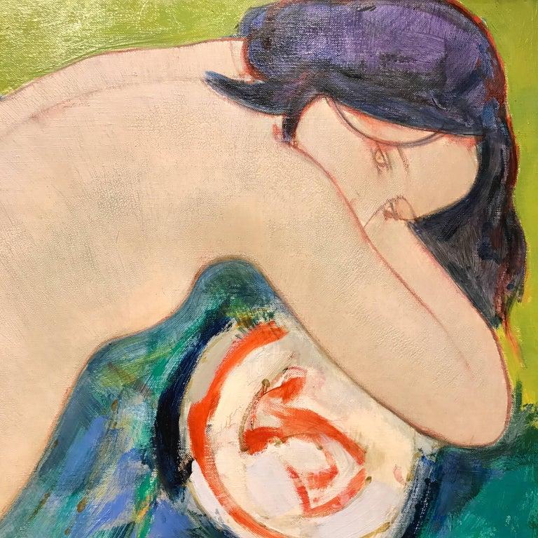 Melancolie (Melancholy) - Painting by Alain Bonnefoit