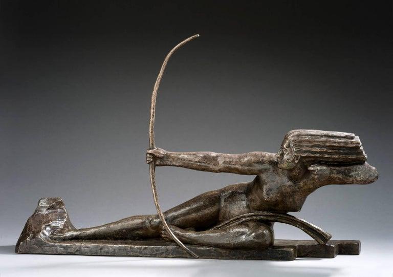 Marcel-André Bouraine Nude Sculpture - Penthesilia, Reine des Amazones