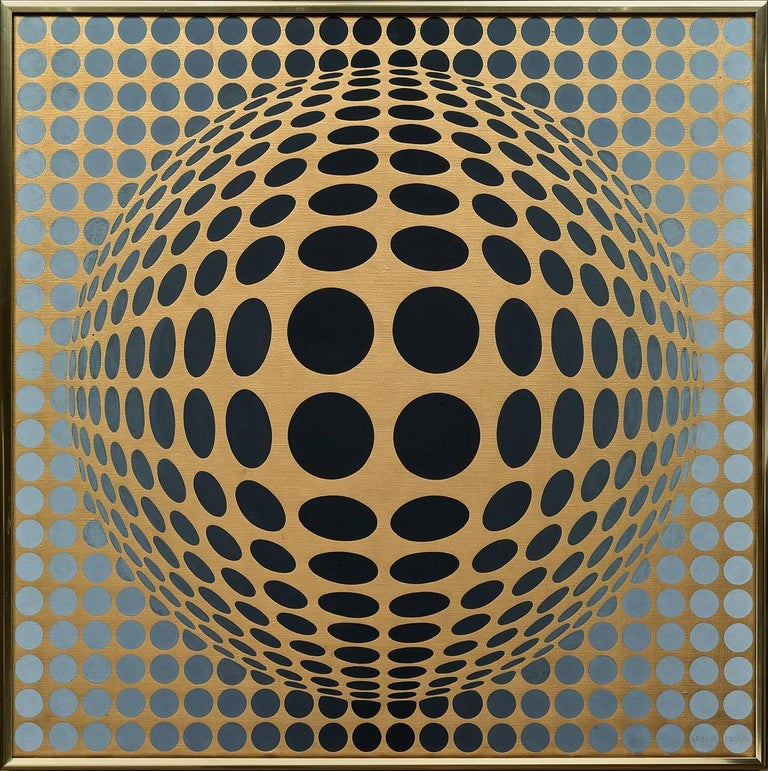 Victor Vasarely Abstract Painting - Vega-Or