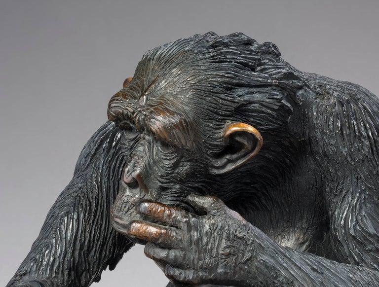 La Guenon - Sculpture by Bernard & Arnaud Bessoud