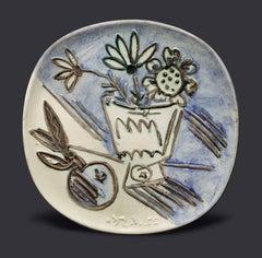 """Pablo Picasso Ceramic """"Bouquet à la pomme"""""""