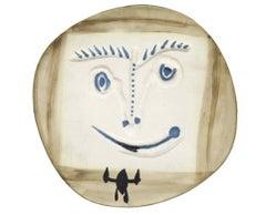 "Pablo Picasso Ceramic ""Visage à la cravate"""