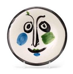"""Pablo Picasso Ceramic """"Visage 197"""""""