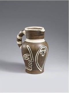 """Pablo Picasso Ceramic """"Pichet fravé gris"""""""