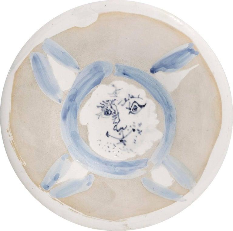 """Pablo Picasso Ceramic """"Visage N°72"""""""