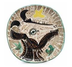 """Pablo Picasso Ceramic """"Tête de chèvre de profil"""""""