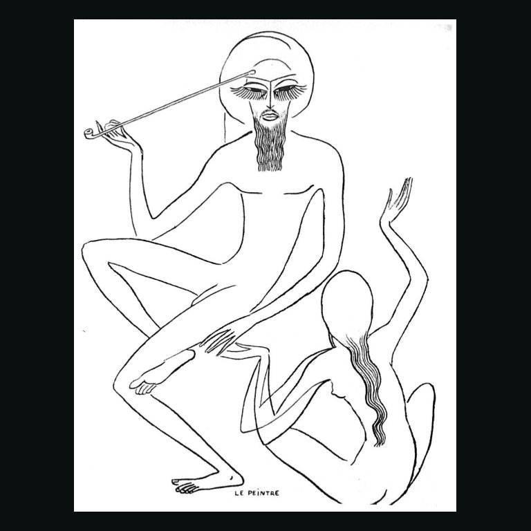 """Kees Van Dongen """"Etude pour les """"Mille et une nuits"""""""""""