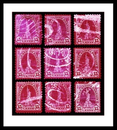 Stamp Collection, Liberty (Magenta Mosaic)