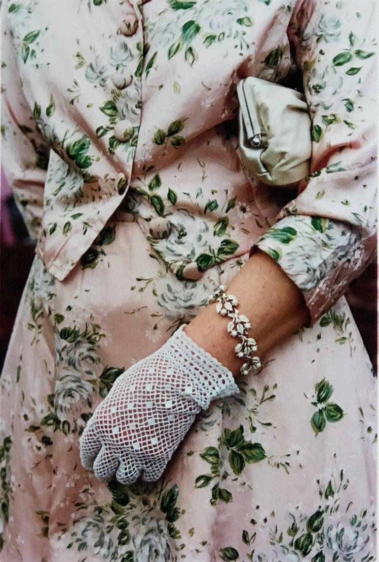 Richard Heeps Color Photograph - Pink Floral Dress, Goodwood, Chichester