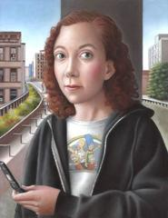 Young Woman with Flip Phone
