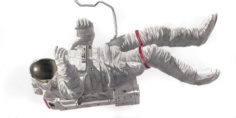 Thomas Broadbent Figurative Painting - Spaceman