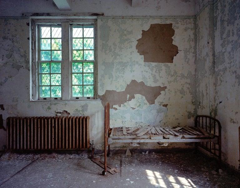 Phillip Buehler Color Photograph - Bed Window