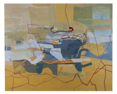 """Contemporary Abstract Painting """"Scalamandre, 121513"""" oil on linen,"""