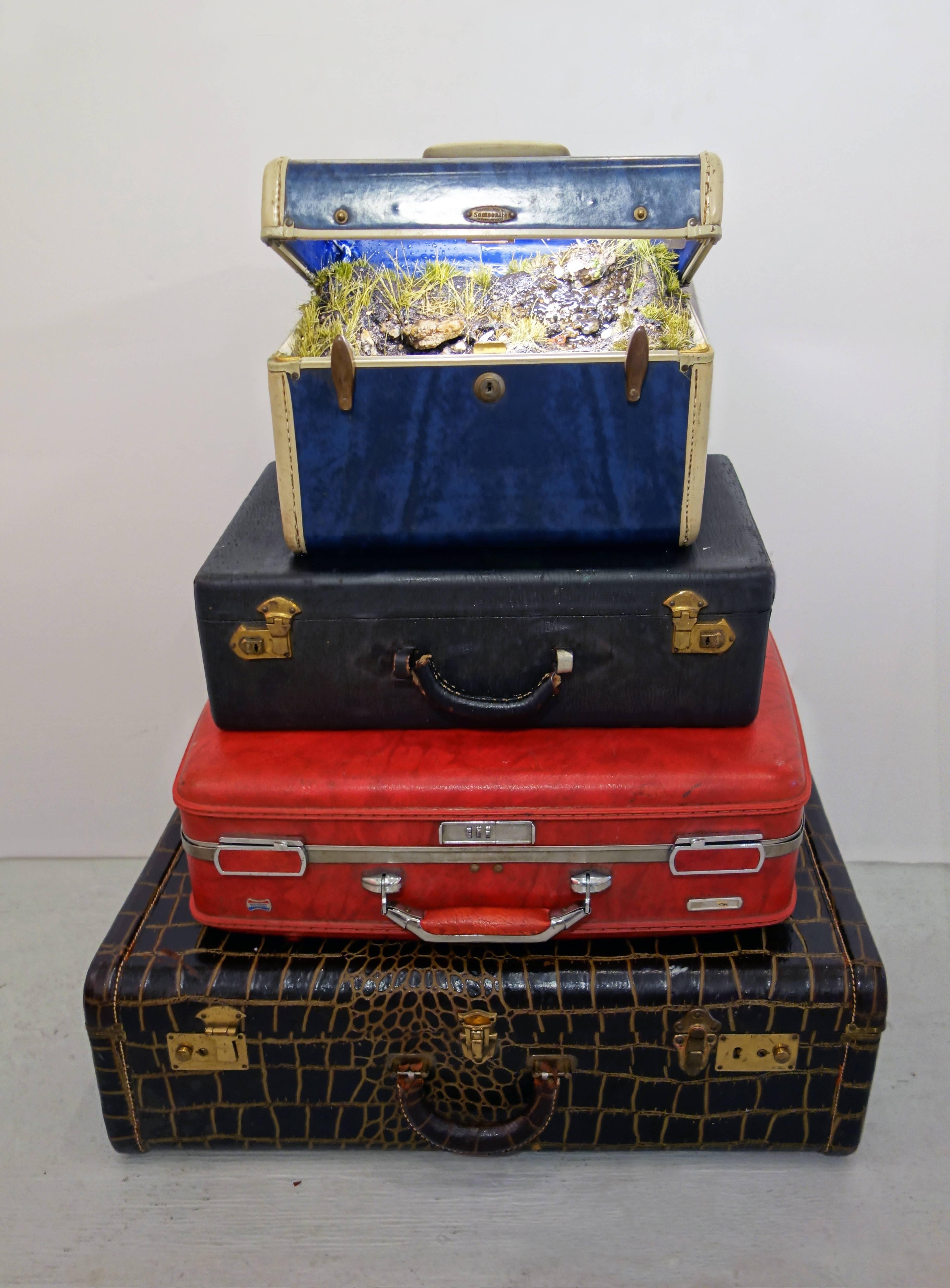 """""""Traveling Landscape"""" Blue Marble Stack"""
