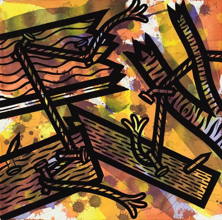 Jesse Lambert Abstract Drawing - Thread 4