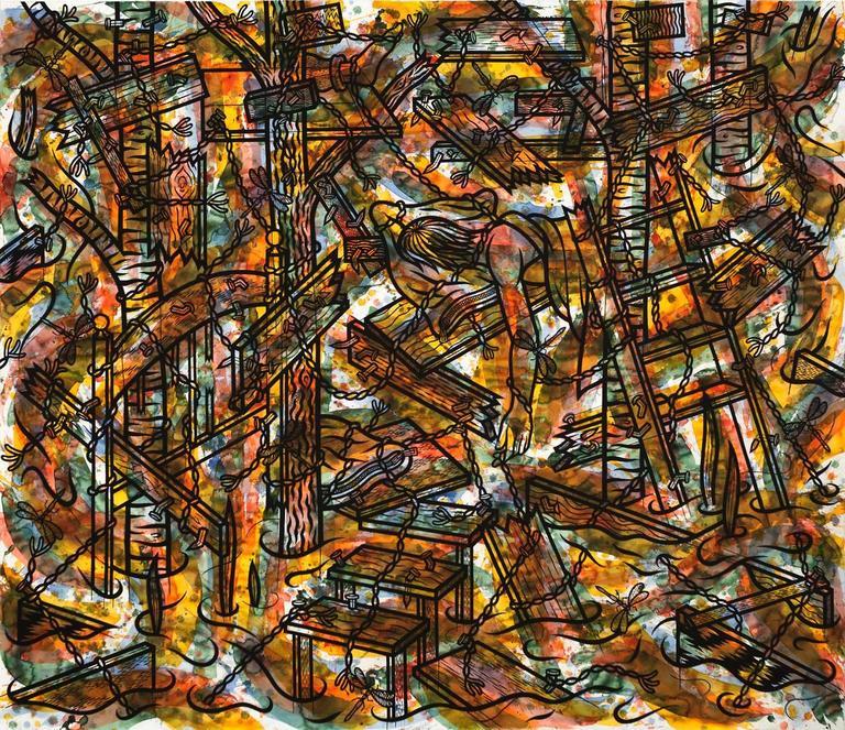 Jesse Lambert Abstract Painting - Rest