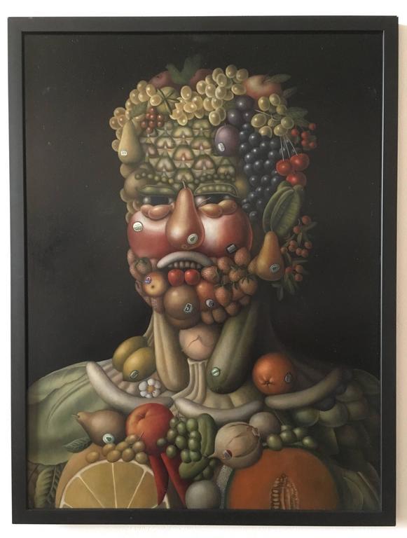 "Tribute to Arcimboldo: ""Organic Fruit Head"""