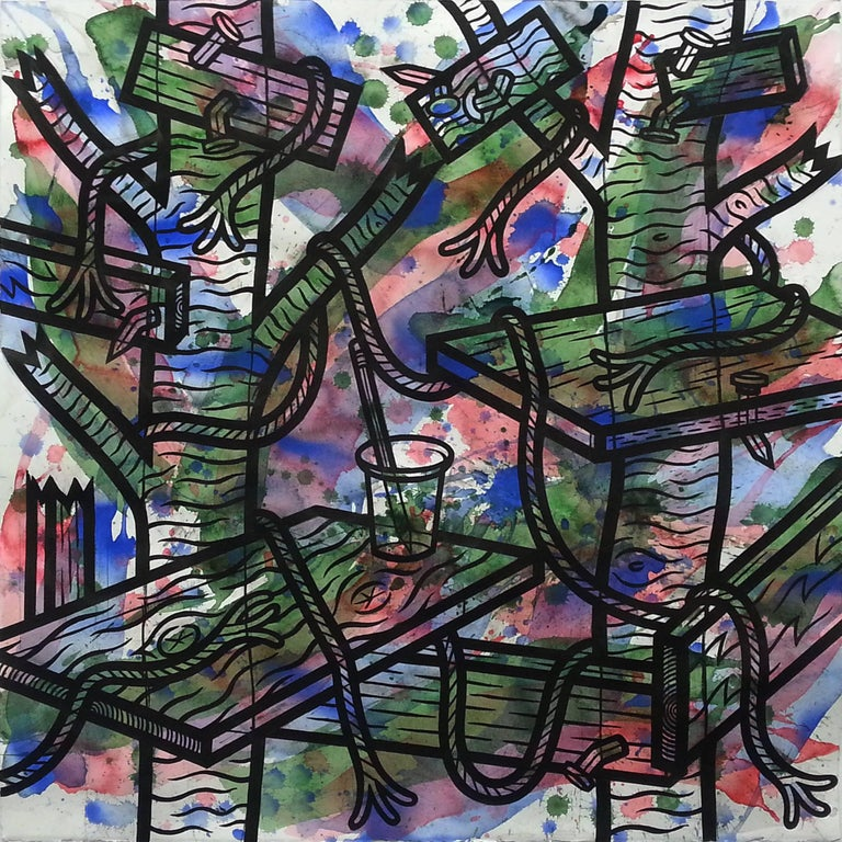 Jesse Lambert Abstract Painting - Moment