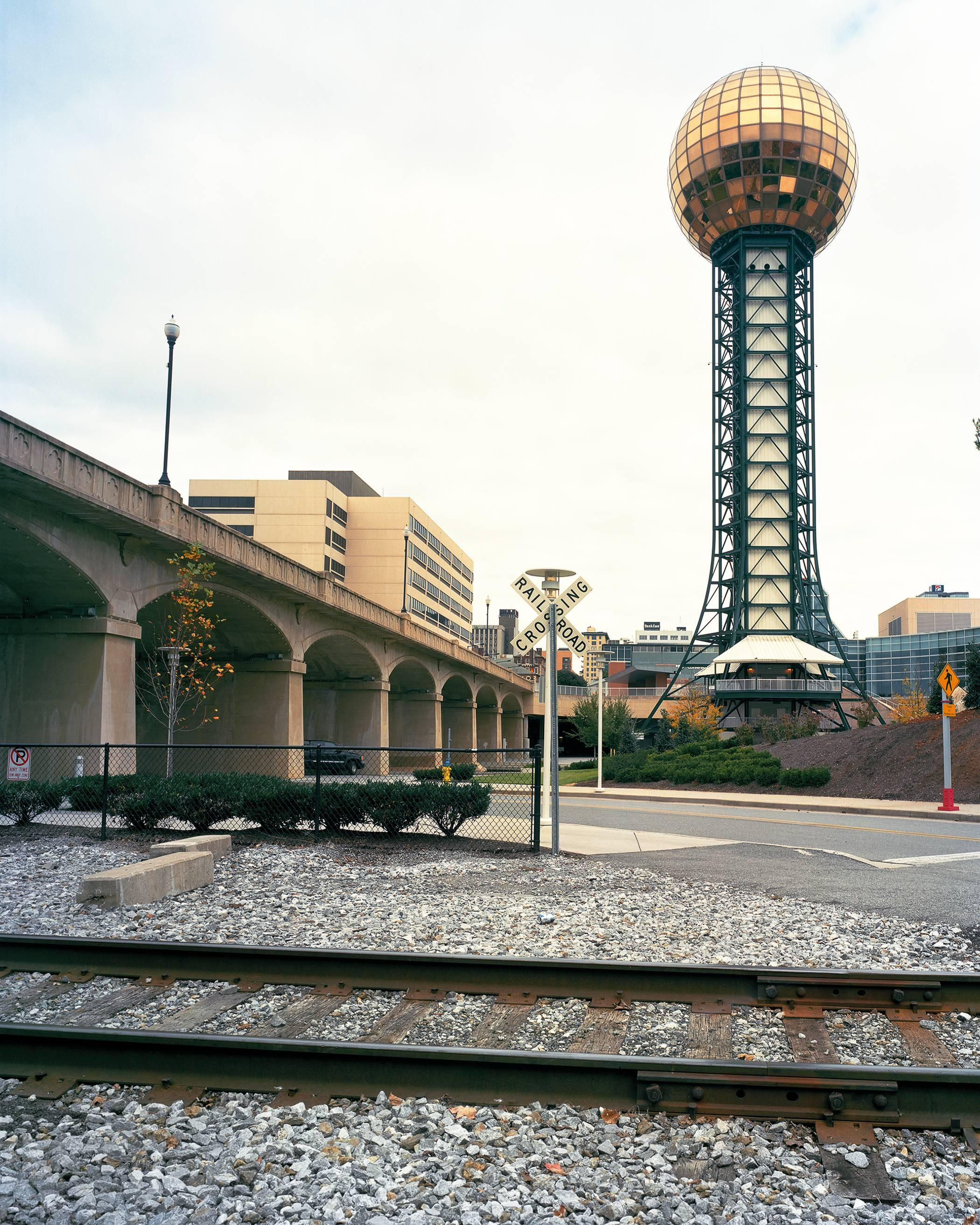 """Knoxville 1982 World's Fair, """"Energy Turns the World,"""" Sunsphere 50""""x40"""" photo"""