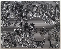 """""""Origins"""" Large Scale, Black and White Gestural Abstract Painting"""