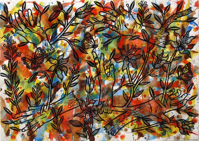 Jesse Lambert Abstract Drawing - Hands