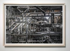 """Boiler Pipes"" (Domino Sugar - Williamsburg, Brooklyn) framed and mounted"