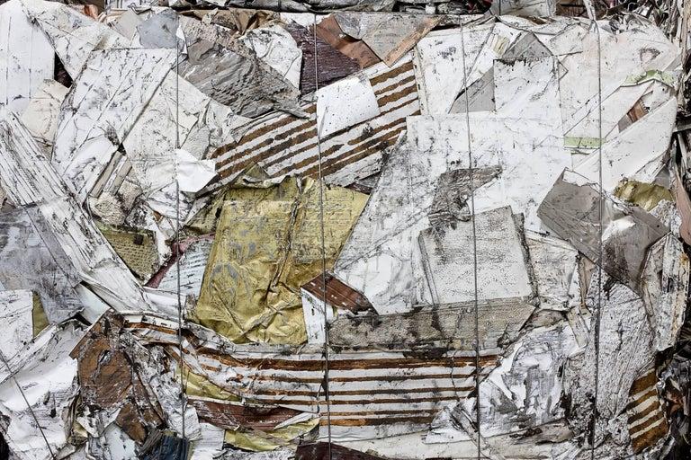 "Stephen Mallon Abstract Photograph - Aluminum Siding, 30""x45"" chromogenic print"