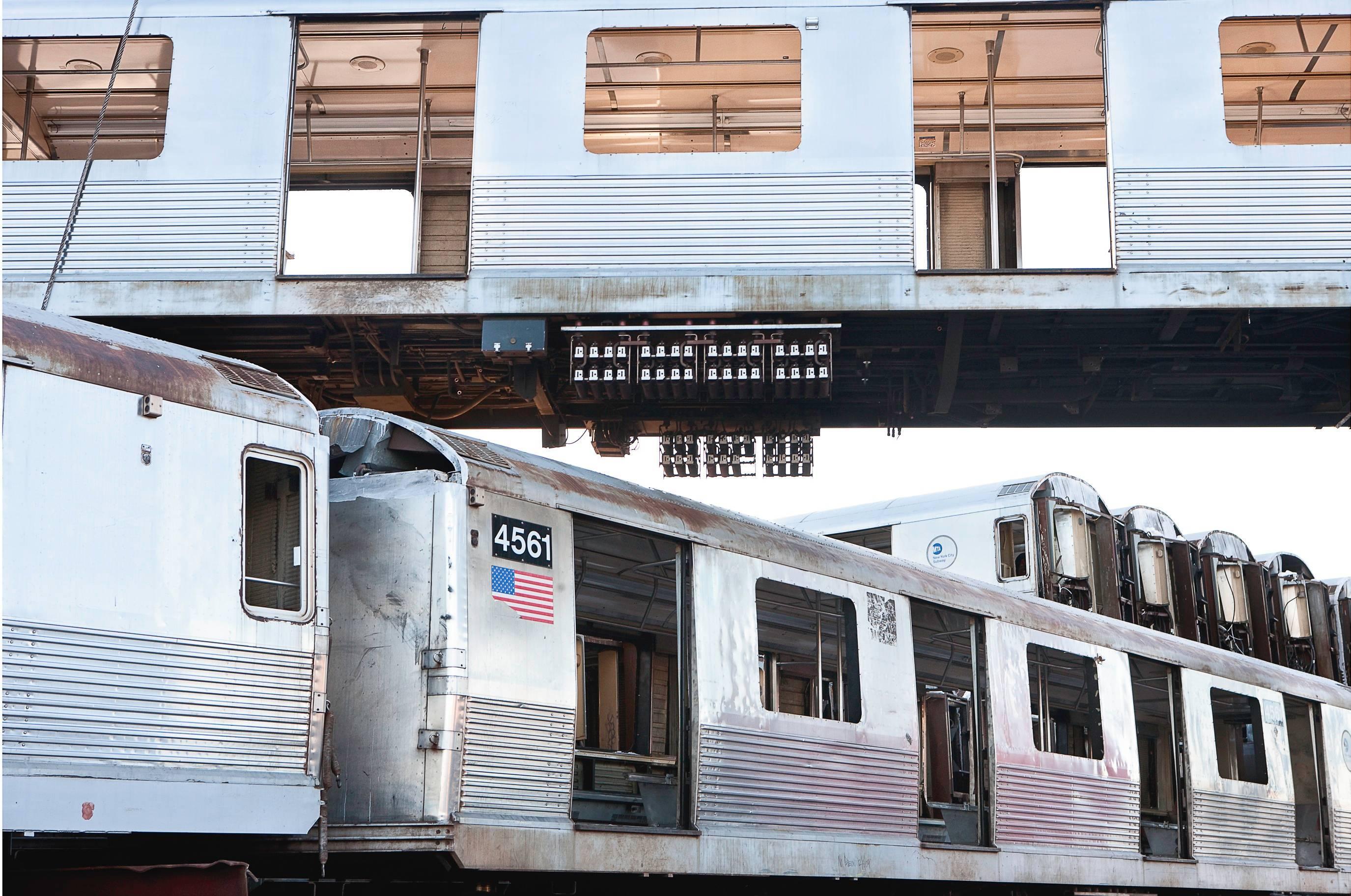 "Commute 30""x45"" photograph (New York Subway Cars)"