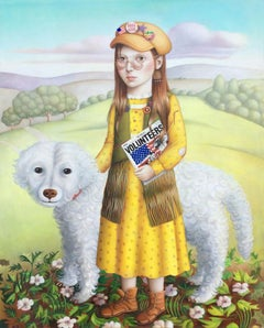 Girl with Dog and Album