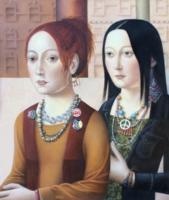 Two Women with Jewelry (framed)