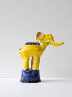 Yellow Elephant Sculpture