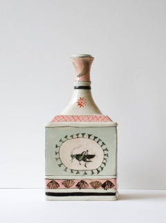 Urn with Grasshopper & Red Cat