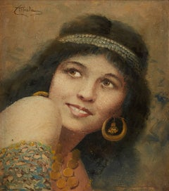 Young Beauty Wearing Jewelry