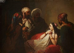 Harem Woman with Group of Arabs