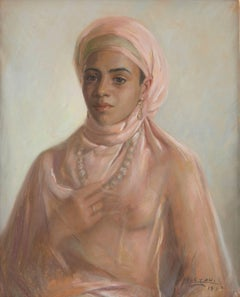 Portrait of an Exotic Woman with Necklace