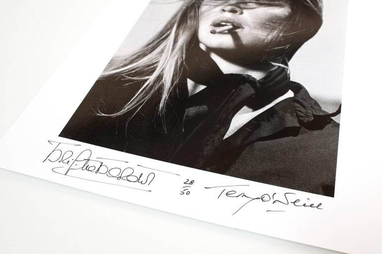 Co-Signed Brigitte Bardot with Cigar - Photograph by Terry O'Neill